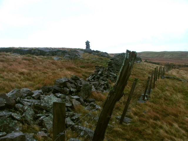 Cairn on Fleet Moss Edge.