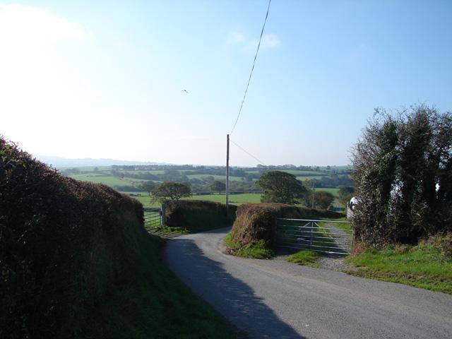 Country lane at Rhosgoch