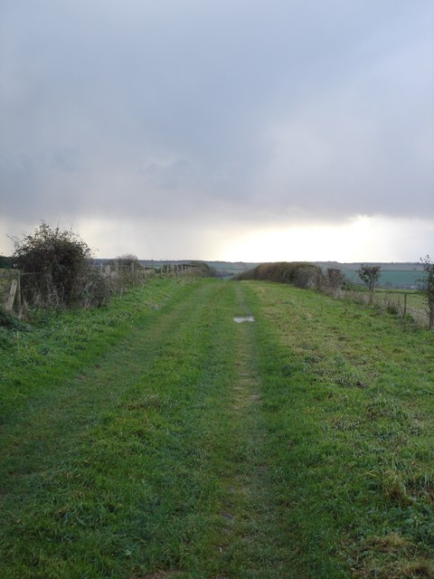 Track on top of Gussage Hill
