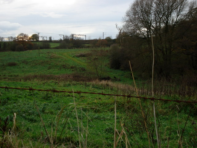 Railway Embankment from Dutton Lodge Farm