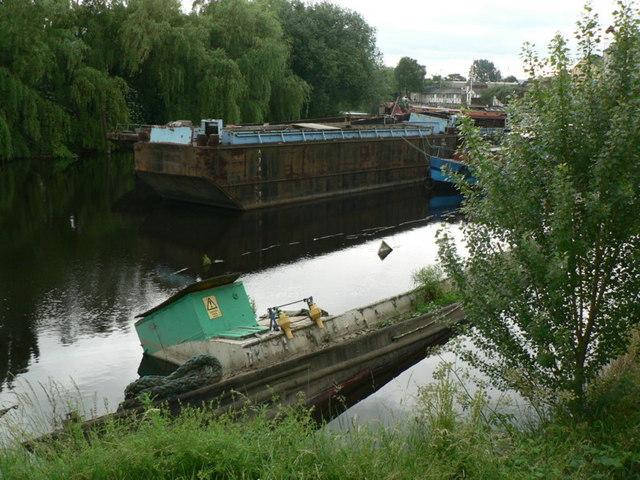 Sunken Barge, River Calder