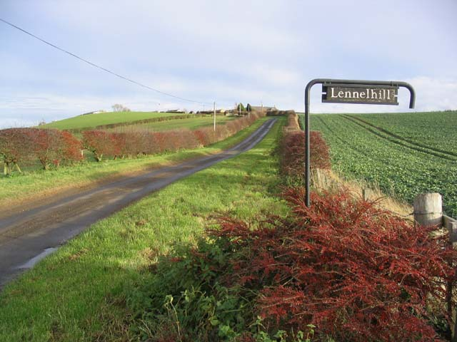 The road to Lennelhill Farm