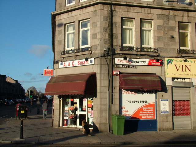 Corner Shop on King Street, Aberdeen
