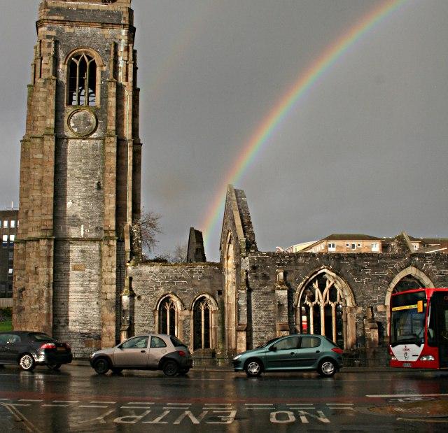Rainbow over Charles Church