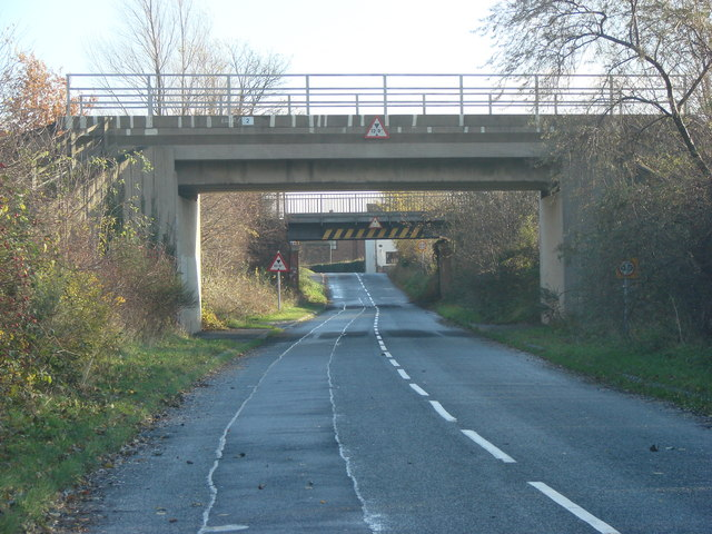 The two railway bridges, Temple Hirst