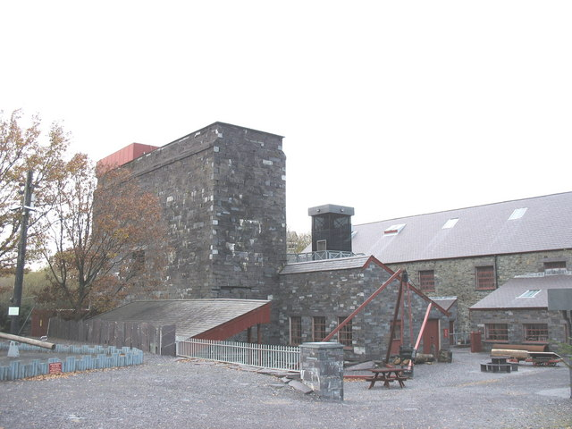 Rear view of the building housing the Dinorwig Quarry Waterwheel