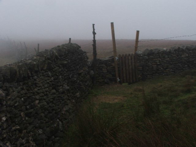 Wall Junction and Gate Stile on Horse Head.