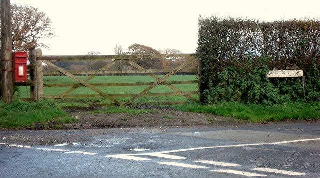 Junction of Higher Lane and Marsh Lane