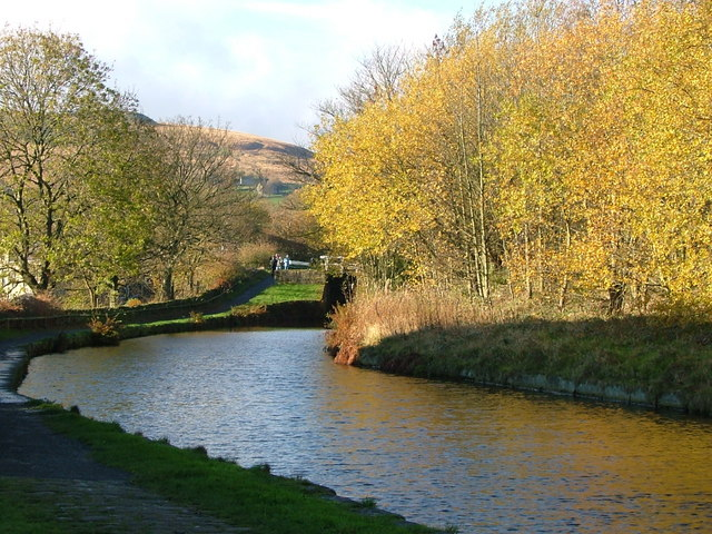 Huddersfield canal in the direction of Marsden