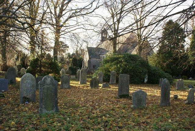 St John the Evangelist church and graveyard, Hazelwood