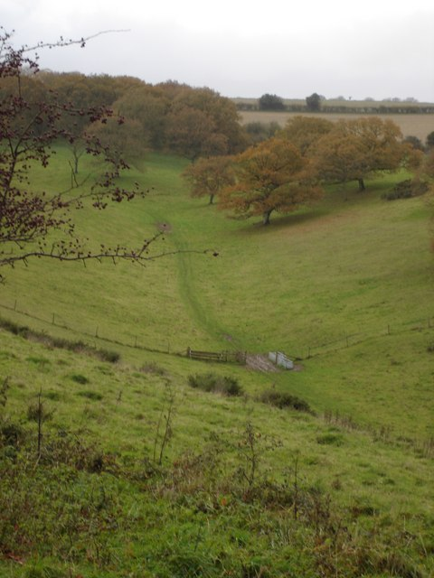 View of Middleton Down Nature Reserve (RSPB)