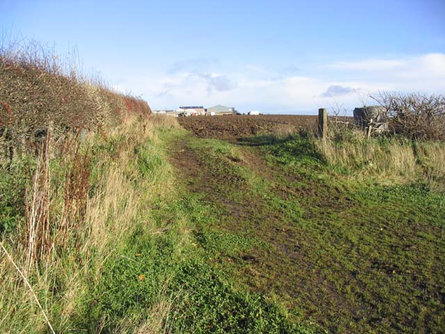 Access to a ploughed field
