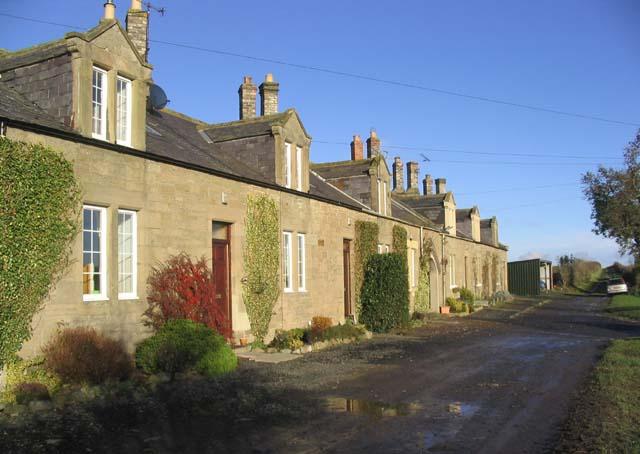 Cottages near Lochton Farm