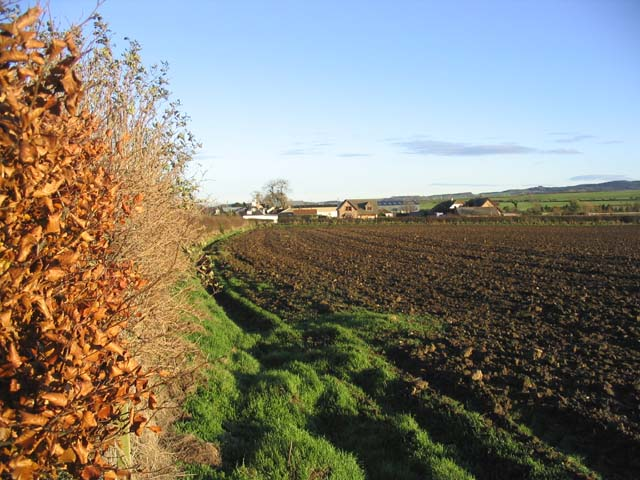 Ploughed field at Bowsden