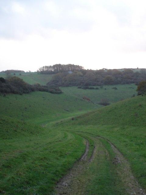 Track from Knighton Hill Farm to Church Bottom
