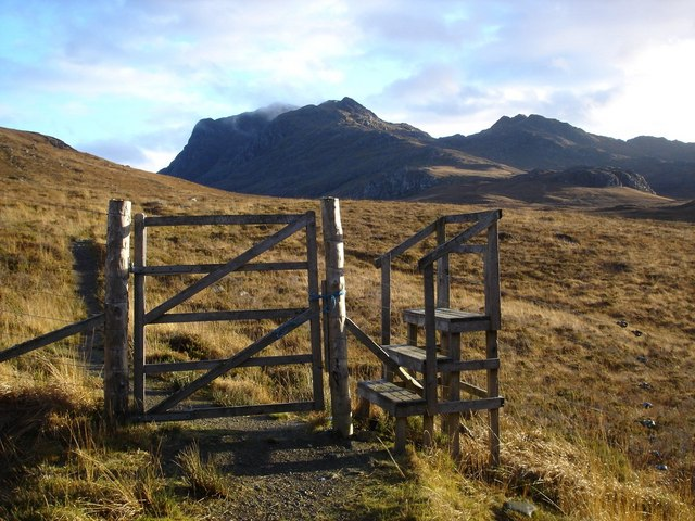 Stile at edge of Kernsay Forest