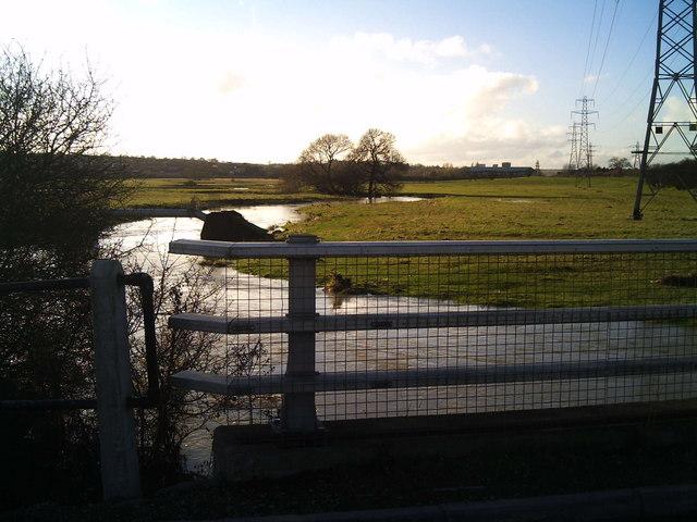 River Eye swollen by recent heavy rainfall