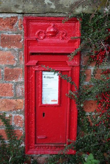 George V postbox at Littleborough
