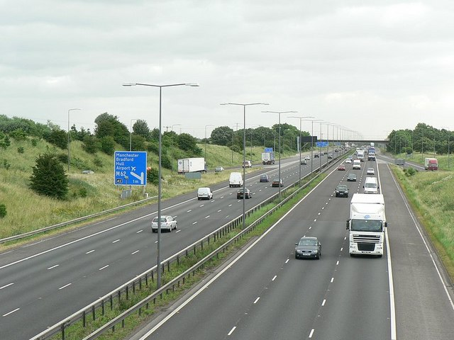 M1 (north) at Junction 41 Carr Gate, Wakefield