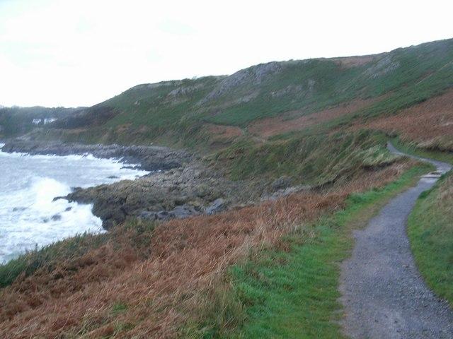 Coast path near Caswell