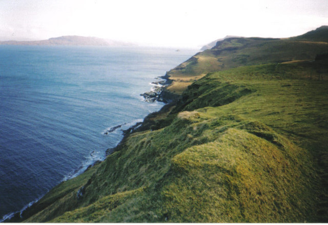 Looking south along the coastline towards Rigg