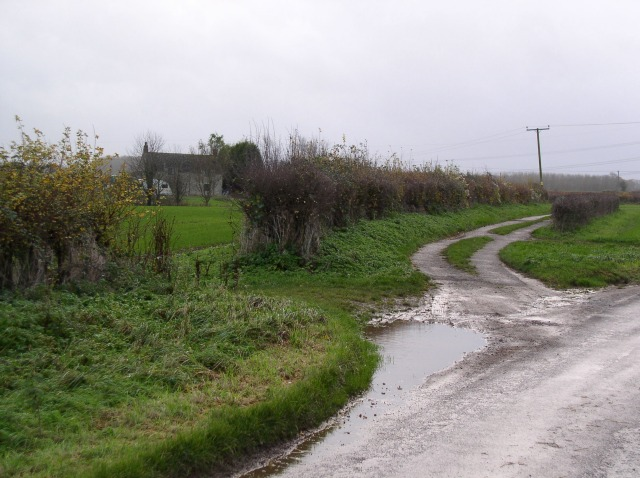 Track to stone cottage