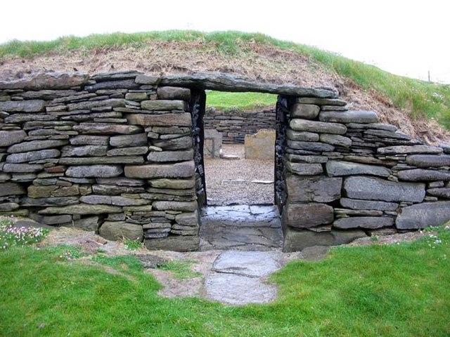 Entrance to Knap of Howar
