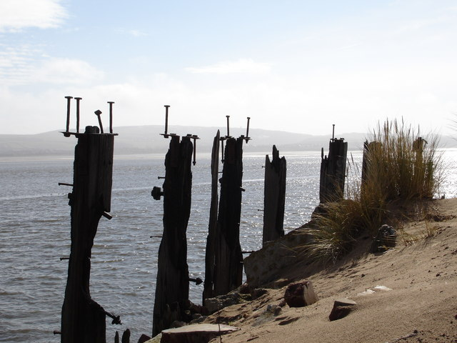 Remains of  Pier  at Salterhouse Pool