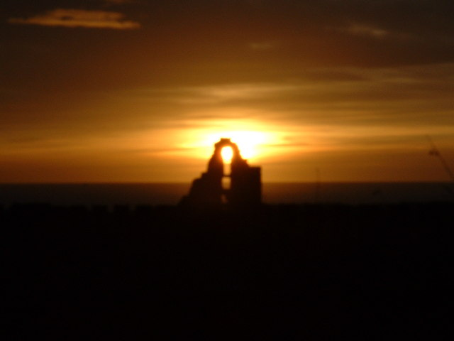 Boddam castle at sunset