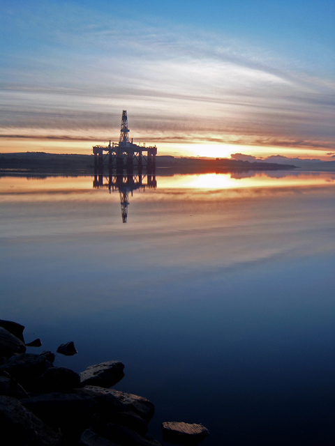 Drilling Rig in the Cromarty Firth