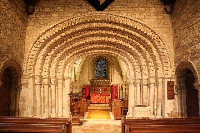Norman chancel arch