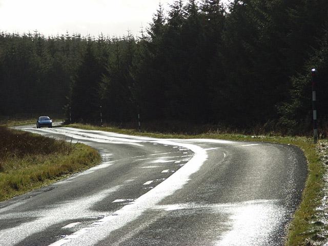 The A686 near Clargillhead