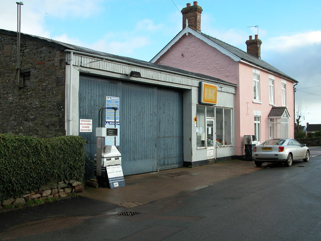 Traditional village garage, St Briavels