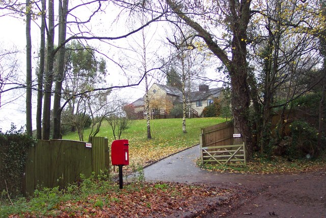 Post box in a layby near Seven Springs