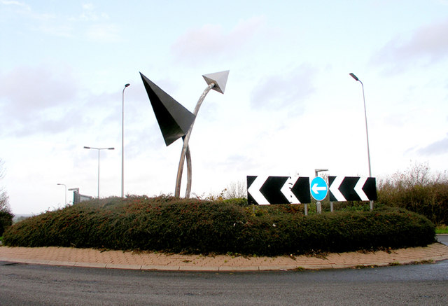 Airport Roundabout, Port Road, Cardiff