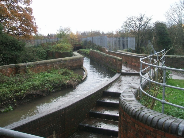 Smestow Brook crossing the Tunstall Water Bridge
