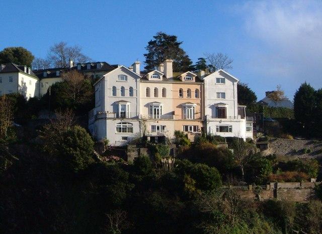 Houses on Braddons Hill Road East, Torquay
