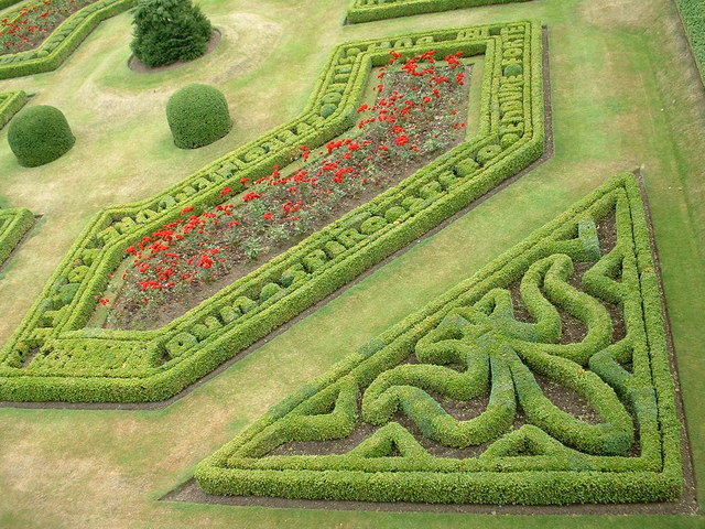 Garden feature at Edzell Castle