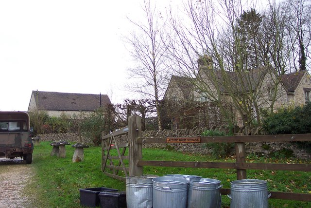 Dustbins outside Aycot Farm