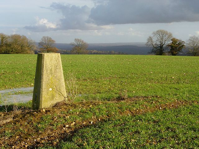 Trig point near Goleigh Farm
