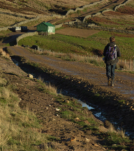 Track and hut, Eals Fell