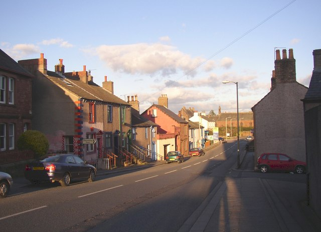 The lower end of King Street, Wigton