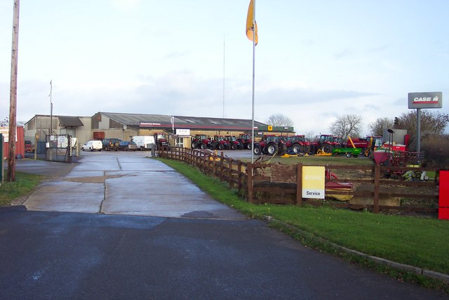 Farm machinery dealership in the Cotswolds.