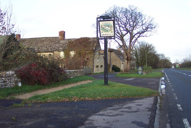 The Hare And Hounds at Foss Cross.