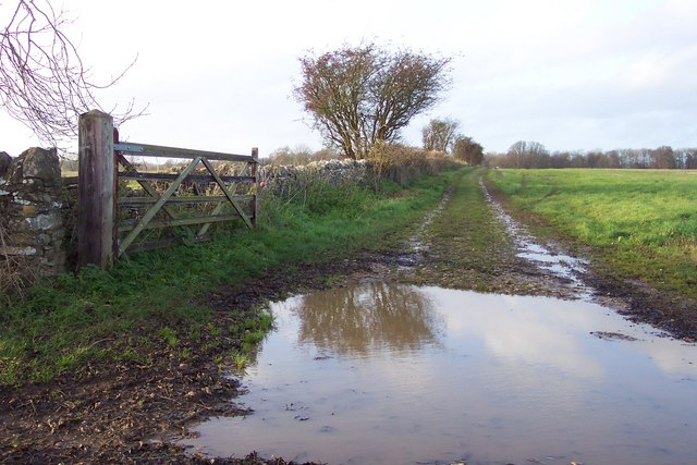 Muddy track off Chapel Lane, North Cerney.