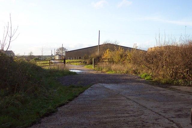 A modern farm building near Ampney Riding.