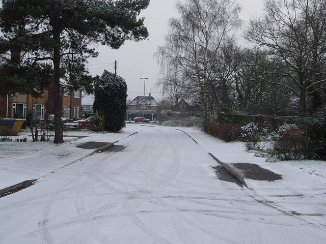 Castor Court in winter 2005