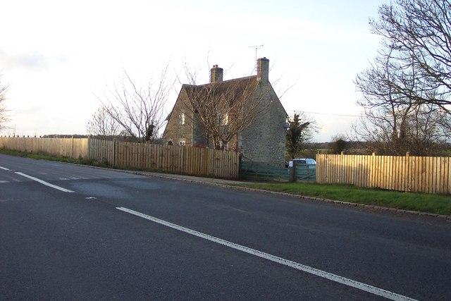 House on B4425 between Cirencester and Barnsley.