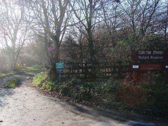 Entrance to Carlton Marsh Nature Reserve
