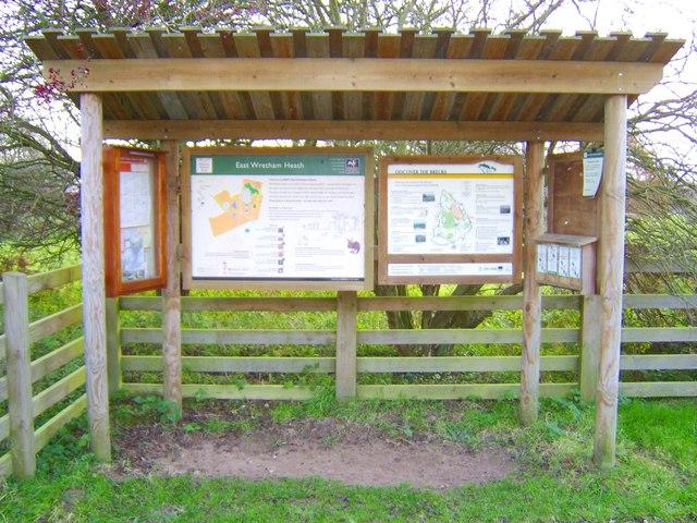 East Wretham Heath - information board
